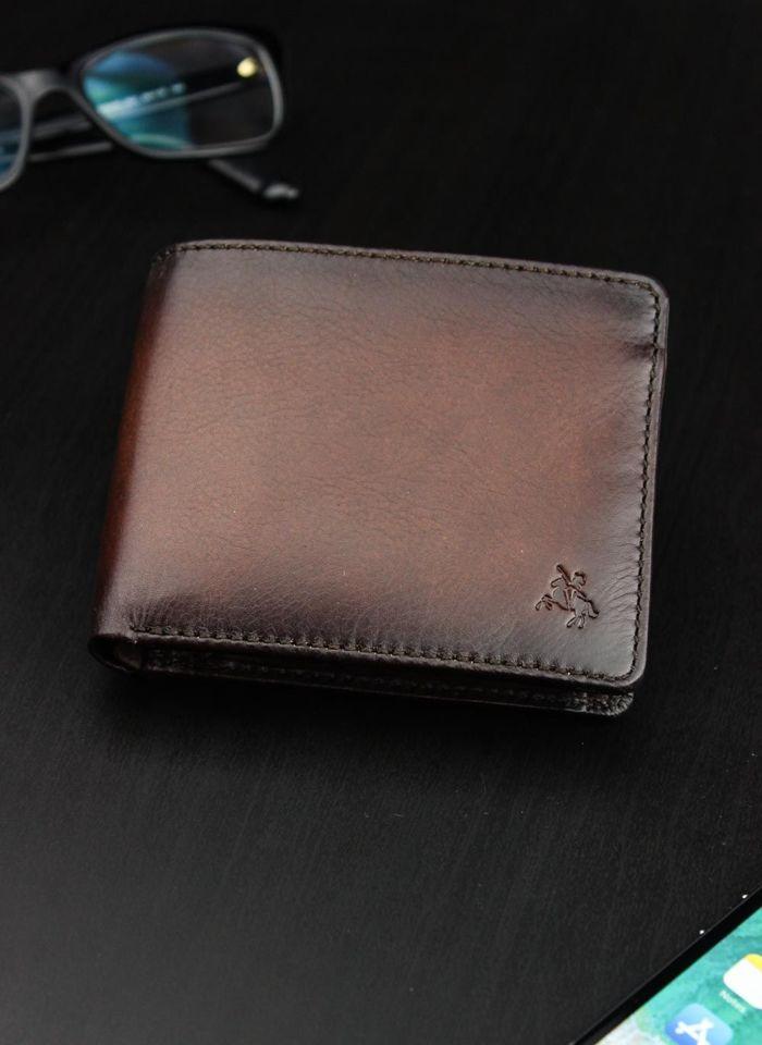 Visconti Portfel Męski Skóra AT-6 Brąz RFID Tap&Go