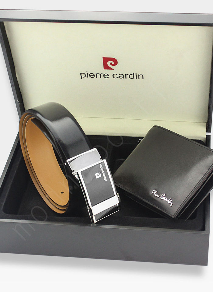 Zestaw Prezentowy Pierre Cardin Pasek i Portfel w drewnianym pudełku na prezent 8806