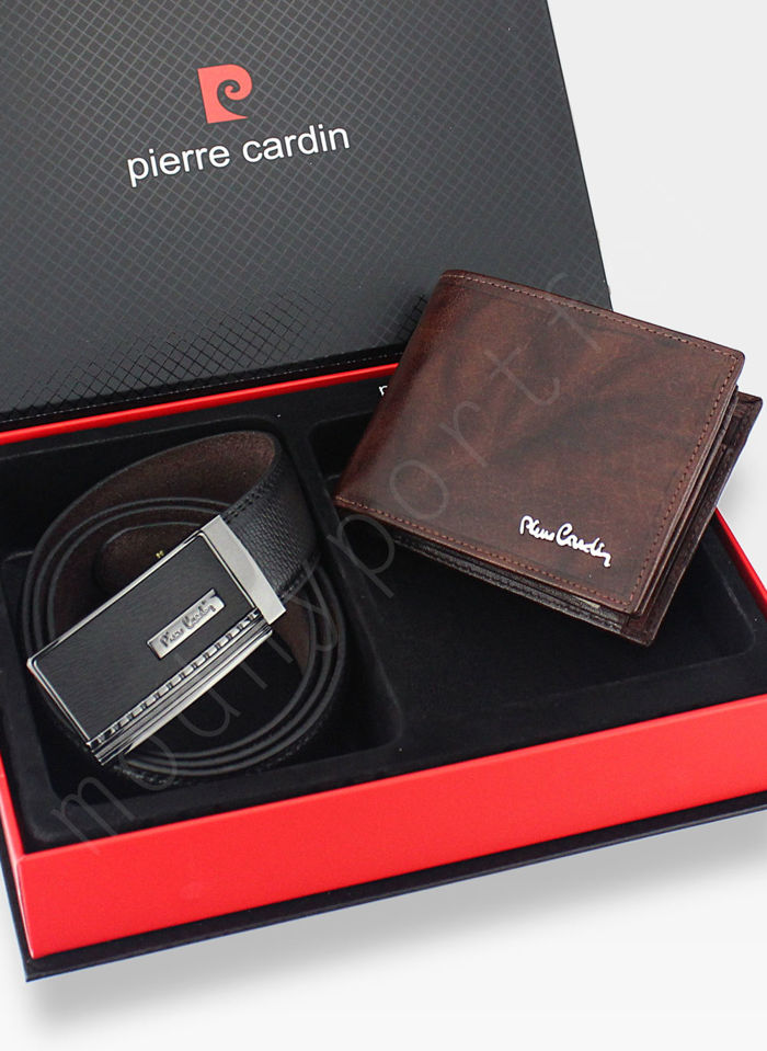 Zestaw Prezentowy Pierre Cardin Pasek i Portfel w eleganckim pudełku na prezent 8806