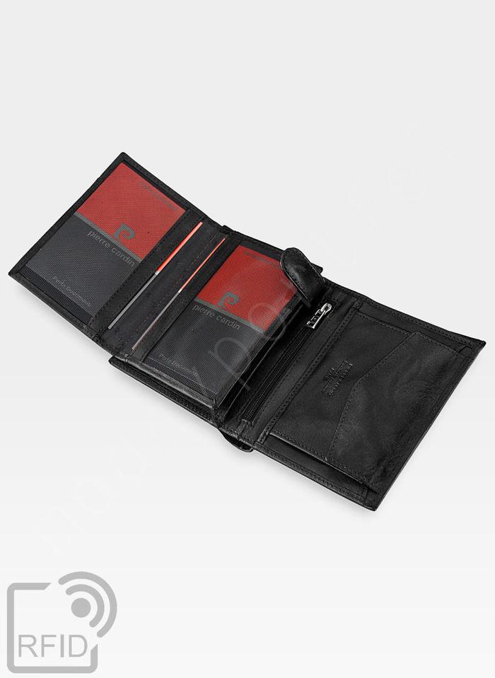 Zestaw Prezentowy Pierre Cardin Pasek i Portfel z ochroną RFID w eleganckim pudełku na prezent 326