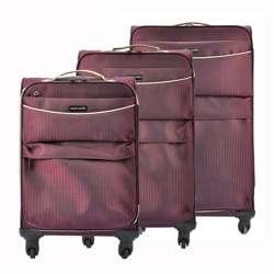 Komplet walizek 3 w 1 A4 Pierre Cardin DAVID03 SH-6907 x3 Z bordo