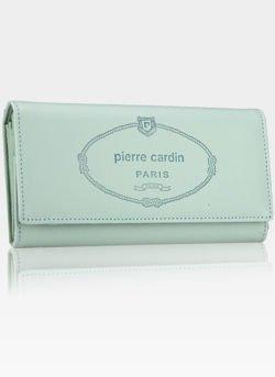 Luksusowy Modny Portfel Damski Pierre Cardin Mięta