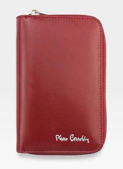 Portfel Damski Pierre Cardin Skórzany Czerwony 520.1 503