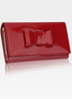 Portfel Damski Skórzany PETERSON Lakierowany 466-1 Czerwony RFID