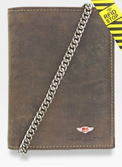 Portfel Męski Peterson Skórzany 348 Mieści Dowód Rejestracyjny w Etui! Łańcuch System RFID