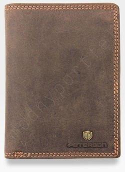Portfel Męski Skórzany Peterson Skóra Naturalna Nubuk 324
