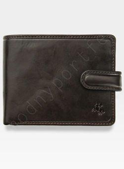 Viscont Bezpieczny Portfel Męski Skórzany Brązowy RFID TSC47