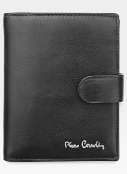 Zapinany Portfel Męski Pierre Cardin Skórzany Czarny Tilak06 331A Pudełko Ochrona RFID